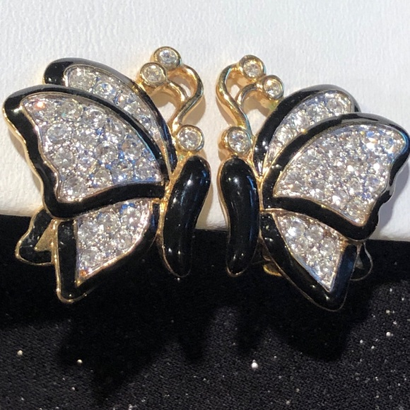 ed13ca77c623 Nolan Miller Jewelry | Austrian Crystal Butterfly Earrings | Poshmark